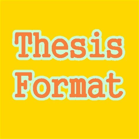 Scope of this thesis